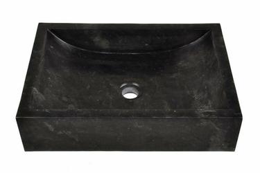 Umywalka nablatowa z marmuru - czarna