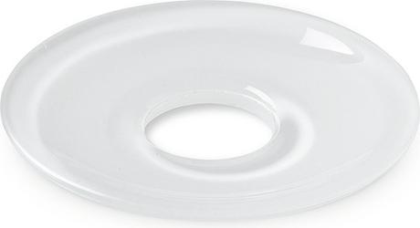 Okapnik do świecy lumi płaski 8,5 cm biały