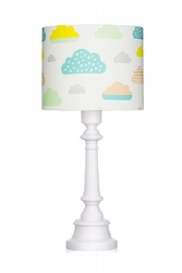 Lampa stojąca - pastelowe chmurki
