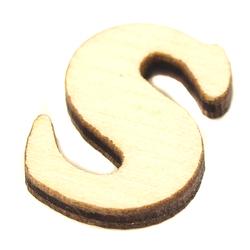 Drewniana literka do rękodzieła - S - S