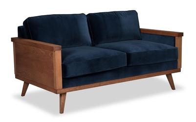 Sofa orkidé welurowa 2-osobowa deluxe - welur łatwozmywalny wood