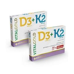 Alg pharma k2 + d3 vitalgold 2x 40 tabs 80 tabs dobra cena