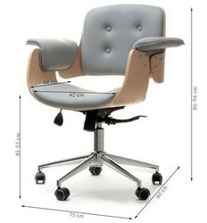 Fotel tapicerowany szary walter