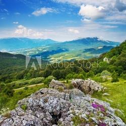 Obraz na płótnie canvas trzyczęściowy tryptyk góra