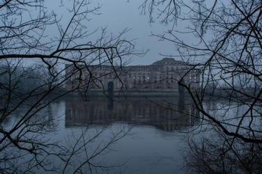 Pałac na wodzie - plakat premium