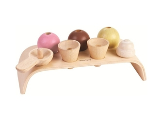 Drewniana lodziarnia zestaw pastelowy