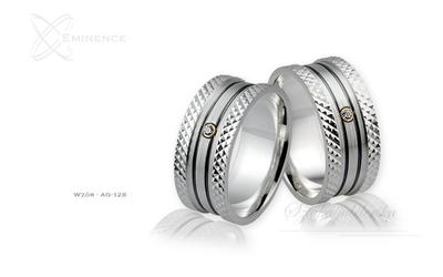 Obrączki srebrne - wzór ag-128