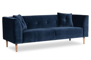 Sofa ginster welurowa 3-osobowa deluxe - welur łatwozmywalny sky