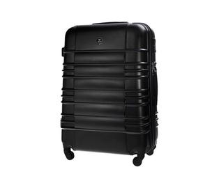 Duża walizka podróżna stl838 czarna - l  czarny