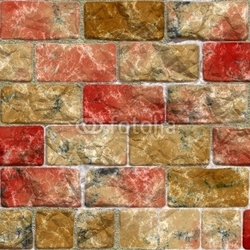 Obraz na płótnie canvas ilustracja kolorowy mur