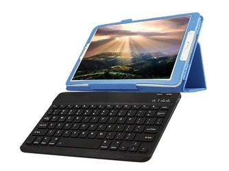 Etui stand case samsung galaxy tab e 9.6 niebieskie +klawiatura - niebieski