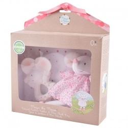 Meiya  alvin - meiya mouse organic zestaw babyshower z gryzakiem
