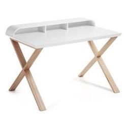 Drewniane biurko selestino 82,5 cm białe