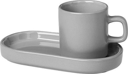 Filiżanki do espresso pilar mirage grey ze spodkiem 2 szt.