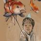 Chłopiec z balonikiem - plakat wymiar do wyboru: 59,4x84,1 cm