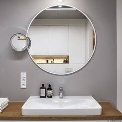 Gieradesign :: lustro skandynawskie scandi slim okrągłe białe łazienkowe śr. 50