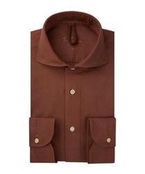 Męska ruda koszula bawełna barwiona s