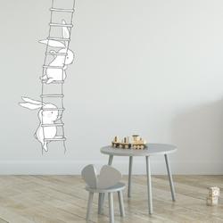 Naklejka na ścianę - climbing rabbits , wymiary naklejki - szer. 50cm x wys. 150cm