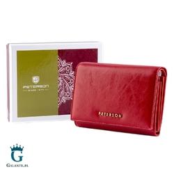 Klasyczny portfel damski czerwony lub czarny peterson pl445