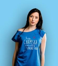 Nie jestem chamska t-shirt damski niebieski xxl