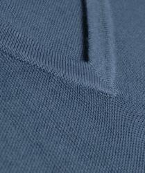 Niebieski sweter profuomo sky blue z wełny pique z dekoltem typu v - rozmiar m l