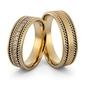 Obrączki ślubne z brylantami i warkoczami - au-1003