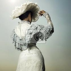 Obraz kobieta w sukni vintage