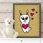 Miłosny króliczek - plakat dla dzieci , wymiary - 30cm x 40cm, kolor ramki - biały