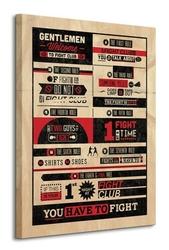 Fight club rules infographic - obraz na płótnie