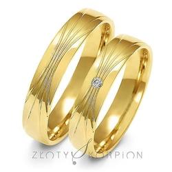 Obrączki ślubne złoty skorpion – wzór au-a156