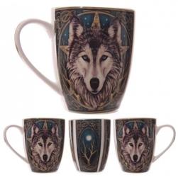 Magiczny wilk - porcelanowy kubek z nadrukiem projekt: lisa parker