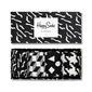 Giftbox 4-pak skarpety happy socks black white - xblw09-9001