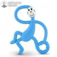 Matchstick monkey dancing light blue terapeutyczny gryzak masujący ze szczoteczką