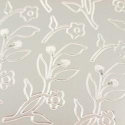 Stickers ażurowy srebrny 10x23 cm - kwiatuszki - 1915