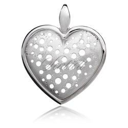 Srebrna zawieszka pr.925 serce z dziurkami