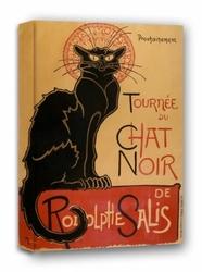 Kot buntownik chat noir - obraz na płótnie