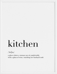 Plakat kitchen 21 x 30 cm