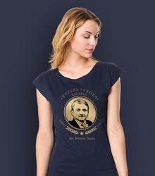 Wyższa szkoła biznesu im. janusza tracza t-shirt damski granatowy xs