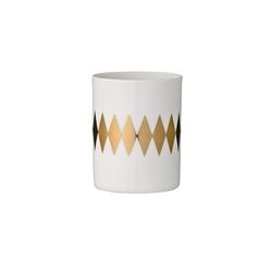 Świecznik na tealight złote romby bloomingville