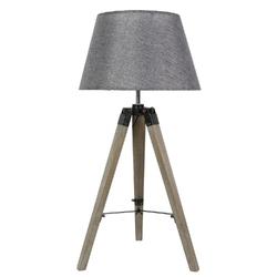 Lampka na drewnianym trójnogu szarym lugano candellux 41-31150