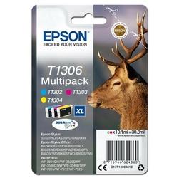 Epson oryginalny ink c13t13064012, t1306, cyanmagentayellow, 30,3ml, epson stylus office bx320fw