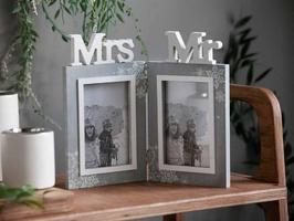 Ramka na dwa zdjęcia podwójna prostokątna drewniana altom design home