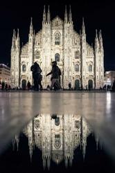 Mediolan, katedra - plakat premium