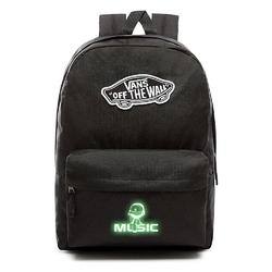 Plecak vans realm backpack szkolny - vn0a3ui6blk - custom lumi - music świecący w nocy
