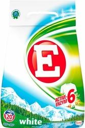 E, White, proszek do prania tkanin białych, 20 prań, 1,4 kg