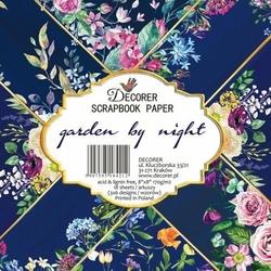 Papier scrapbookingowy 20,3x20,3 cm Garden by night 18 szt.