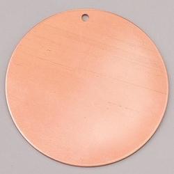 Metalowa zawieszka efcolor - okrągły 42 mm - ok42