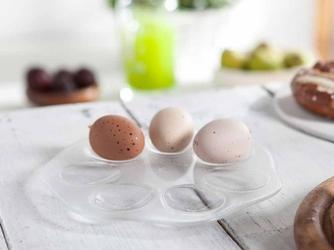 Talerz na jajka szklany huta jasło 21 cm