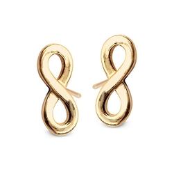 Staviori kolczyki nieskończoność wkrętki żółte złoto 0,333. długość 10 mm. szerokość 4 mm. grubość 1,1 mm.