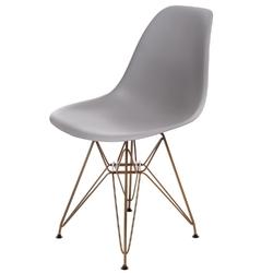 Krzesło p016 pp gold dark grey - ciemny szary